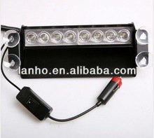2013 New Car Auto 8 LED Emergency Vehicle Strobe Lights for Deck Dash Flash Grille -White