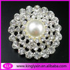 26mm Round pearl Rhinestone Embellishment for invitation,Rhinestone Button LX-G16