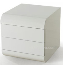 made in china high quality luxury white and mirror nightstands