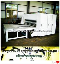 Chain corrugated paperboard multi-color printing machine