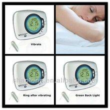 Best Selling portable shake awake vibrating clock for sale