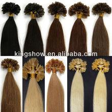 1.0 gram V tip pre bonded Remy hair extensions