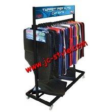 Custom retail store hanging car Ottomans display stand/floor standing car floor mat display rack/metal display rack for doormats