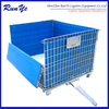 Storage Stackable Steel Cage Folding Warehouse Wire Crate