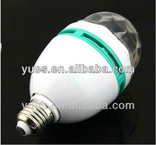 3W cost effective rotating lighting bulb