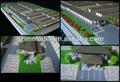 Garagem 3d além de armazenamento modelo em escala diminuta fazendo/público o trabalho de construção do modelo/maquete arquitetônica maker