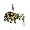 Yellow Sapphire Gemstone Elephant Charm Pendant Jewelry