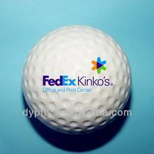 mini 42mm pu stress golf balls with custom logo printed