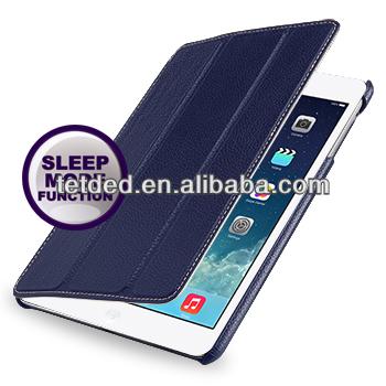 TETDED Premium Leather Case for Apple iPad mini with Retina display -- Quimper (LC: Navy Blue)