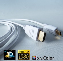 High speed mini HDMI cables 30AWG, 32AWG copper conductor