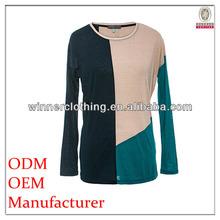 comfortable long sleeve fancy design women t-shirts