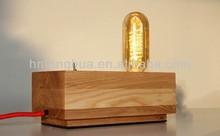 Edison vintage antique light bulb wooden lamp fixture/fittings