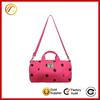 Fashion pink dot canvas gym designer yoga bags for women