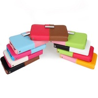 For iPhone 4 4S mobile phone case for iphone 4s around open color block holsteins wallet two-color holsteins