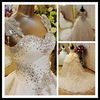 SW492 Real Sample Picture Hot Luxury Sexy Princess Sweetheart Crystals Bead Bling Long Tail Chapel Train Wedding Bridal Dresses