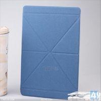 English Amazon multi-folded transformer smart pu leather cover case for ipad 5 air