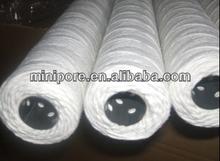 10 pulgadas delgada hilados pp cadena herida cartucho de filtro para tratamiento de agua