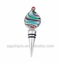Christmas Gift Coloured Glaze Head Red Wine Bottle Stopper