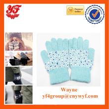 Imitation rabbit fur gloves/full finger keeping warm fur gloves suit for girls