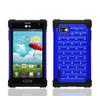 Silicon case for lg optimus f3,black rubberized design case for LG Optimus F3 LS720