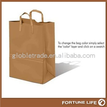 packaging templates paper bag,FL-KL-00273,china manufacturer