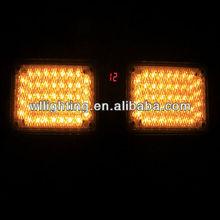 Auto DC 12V Yellow 86 LED Emergency Vehicle Car Truck Super Bright Visor Strobe Light