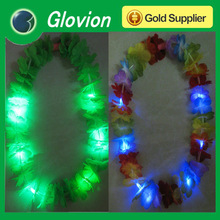 2014 party decoration light up led garland Hawaiian Flower Lei Garland Fabric Leis Led