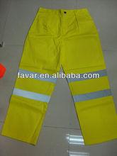 7 oz Protex / algodão Hi Vis calças