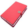Red Luxury faux leather case smart with cards holder Case for iPad Mini