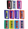 For Iphone 3G/3GS 12 COLOURS cassette retro tape gel rubber silicone cover case skin