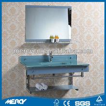 Glass Vanity Unit Blue Glass Vanity Unit