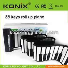 keyboard roll up piano with good sound and waterproof