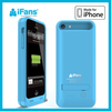 MFi case battery for iPhone 5C 2400mAh power charger made in china