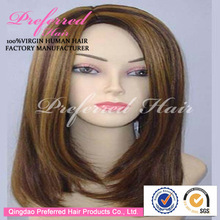 Christmas Hottest&Newest Sale 100% Kanekalon Synthetic Hair Wigs 14'' 12# Bright Charming Color Accept Paypal Payment
