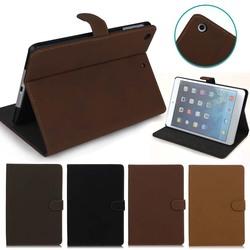 For IPad Mini 2 Leather Case, Retro Stand PU Leather For IPad Mini retina