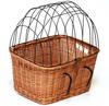 wicker rattan pet bicycle basket