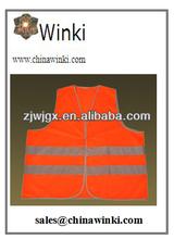 alta visibilidad chaleco reflectante de seguridad,de color naranja