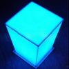 Led acrylic standing light box cubic acrylic light box