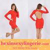 fancy ladies sezy cheap red bandage dress