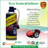 RoHs,REACH,SGS,tyre fix flat tyre sealer inflator ,450ml