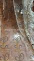 luxo cortina de organza bordada tecidos