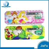 Retangular Shape Colorful Customed Tin Pencil Case For Promotion