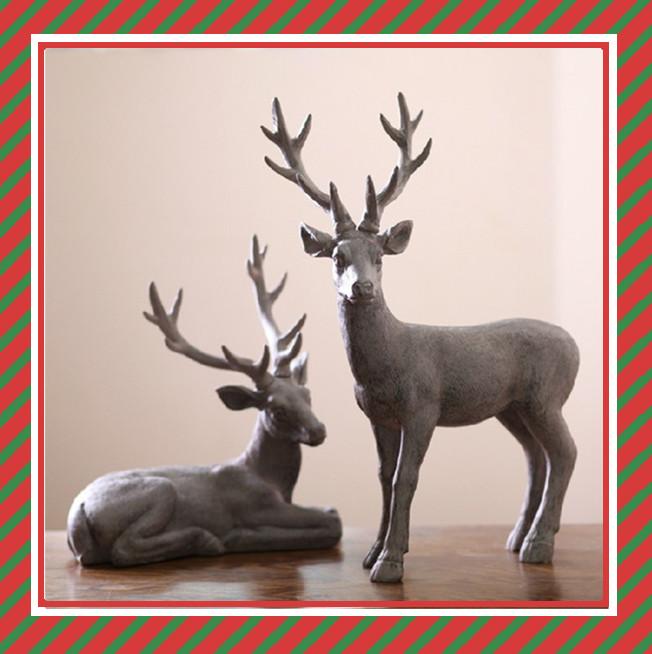 anao de jardim resumo:Resin Deer Figurines