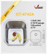 OT-4742A Granite undermount farmhouse sink,undermount right-angled sink,quartz undermount sinks