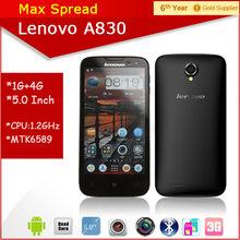 5.0'' dual sim 1gb ram gps cell phone lenovo a830 made in china