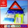 CE approved Popular first aid kit for Medical Vehicle with warning triangle,emergency road kits