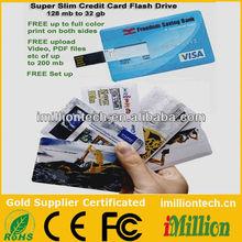 usb credit card usb sticks digital photo printing on both sides