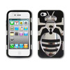Newested Realeased Hybrid hard Plastic PC+Soft Silicone Kickstand Combo Case Cover Black For Apple Iphone 4/4s