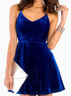 Royal Blue Velvet Dress for Women