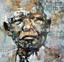 Stunning quality handmade Mandela abstract portraits